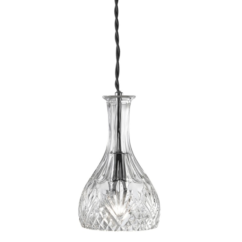DECANTER PENDANT 1LT  - ROUNDED DECANTER CUT GLASS