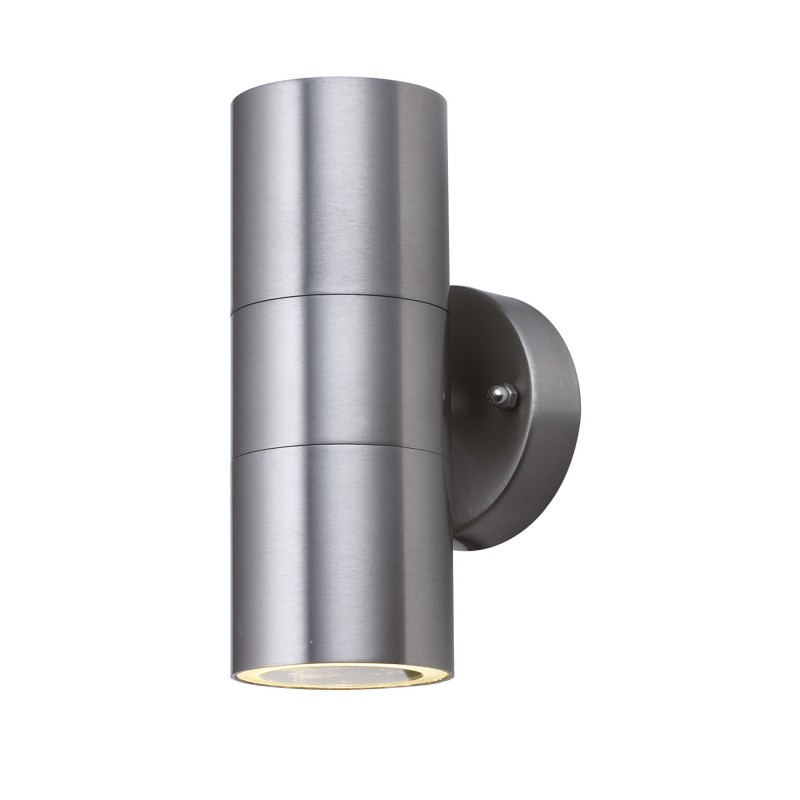 OUTDOOR & PORCH (GU10 LED) WALL 2LT STAINLESS STEEL TUBE