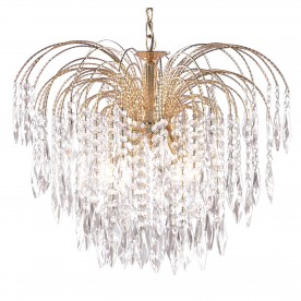 WATERFALL - 5LT CEILING GOLD CLEAR CRYSTAL