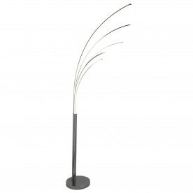GIRAFFE  2 - 5LT LED ARCH FLOOR LAMP CHROME