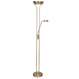 LED MOTHER & CHILD FLOOR LAMP - ANTIQUE BRASS