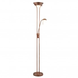 LED MOTHER & CHILD FLOOR LAMP - ANTIQUE COPPER