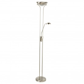 LED MOTHER & CHILD FLOOR LAMP - SATIN SILVER