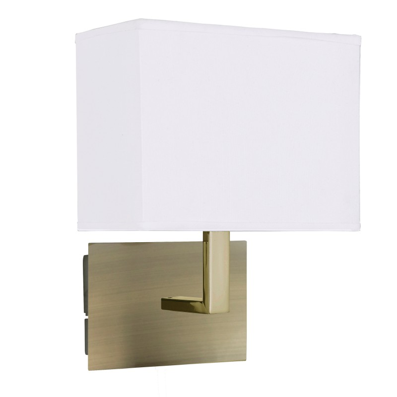 WALL LIGHT AB - WHTE RECTANGULAR SHADE