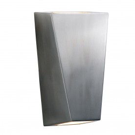 OUTDOOR & PORCH (GU10 LED)  WALL LIGHT - STAINLESS STEEL 2LT - IP44