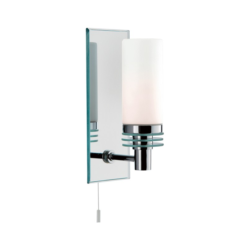 LIMA  - BATHROOM - 1LT (G9 LED) CC/GLASS MIRRORED BACKPLATE WB IP44