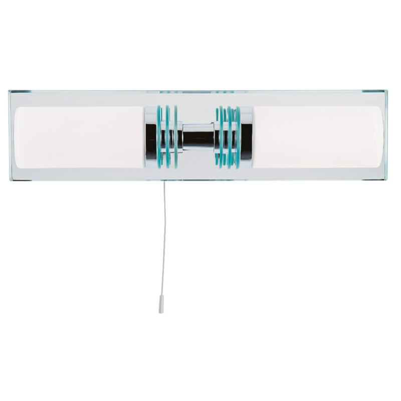LIMA  - BATHROOM - 2LT (G9 LED) CC/GLASS MIRRORED BACKPLATE WB IP44