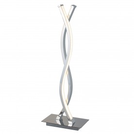 PLATT - LED WAVE TABLE LAMP CHROME