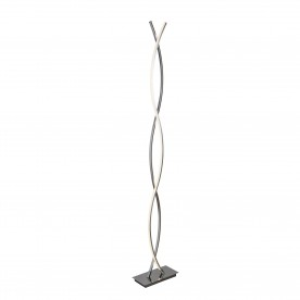 PLATT - LED WAVE FLOOR LAMP CHROME