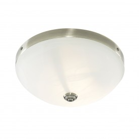 WINDSOR  - 2LT CEILING FLUSH ANTIQUE BRASS MARBLE GLASS