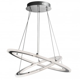 SOLEXA - LED 2 HOOPS CEILING CHROME FROSTED ACRYLIC