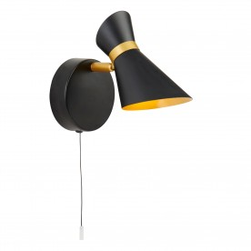 DIABLO 1LT LED SPOTLIGHT MATT BLACK AND GOLD