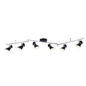 DIABLO 6LT LED SPOTLIGHT SPLIT-BAR MATT BLACK CHROME & WHITE