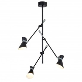SPOTLIGHT - DIABLO 3LT LED CEILING MATT BLACK AND CHROME