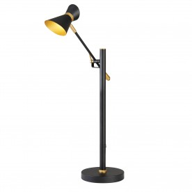 SPOTLIGHT - DIABLO LED TABLE LAMP MATT BLACK AND GOLD
