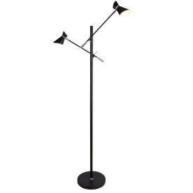 SPOTLIGHT - DIABLO 2LT LED FLOOR LAMP MATT BLACK AND CHROME