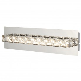 CLOVER LED WALL BRACKET CLEAR CRYSTAL CHROME