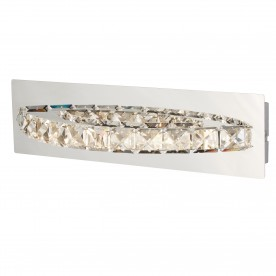 CLOVER LED CURVED WALL BRACKET CLEAR CRYSTAL CHROME