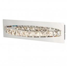 CLOVER LED CURVED WALL BRACKET CLEAR CRYSTAL CHROME