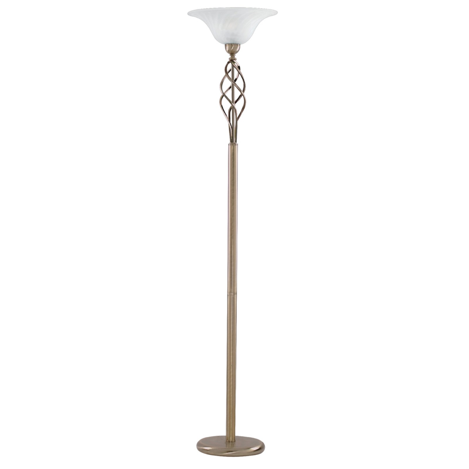 9b144a9980bd UPLIGHTER FLOOR LAMP - ANT/BRASS CW MARBLE GLASS