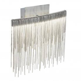 MEMPHIS LED WALL BRACKET SATIN SILVER CHAIN LINK WATERFALL DRESSING
