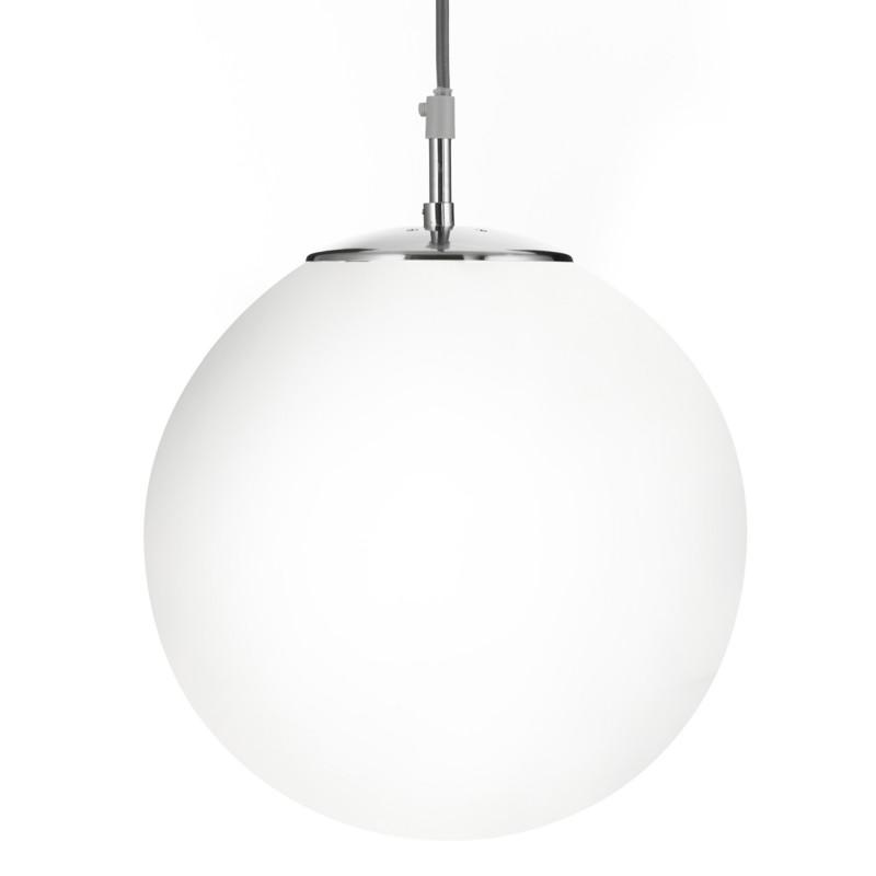 ATOM - 1LT PENDANT (DIA 25cm) SATIN SILVER OPAL GLASS