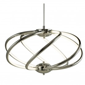 BARDOT 7 CURVED ARM LED PENDANT CHROME