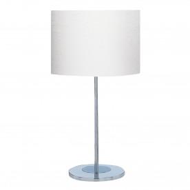 DRUM TABLE LAMP (SINGLE) - CHROME BASE IVORY DRUM SHADE