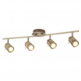 SAMSON 4LT IP44 BATHROOM SPOT SPLIT-BAR ANTIQUE BRASS