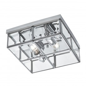 FLUSH - 2LT FLUSH BOX CHROME WITH CLEAR BEVELLED GLASS PANELS