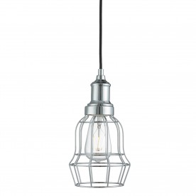 BELL CAGE 1LT CHROME CAGE PENDANT