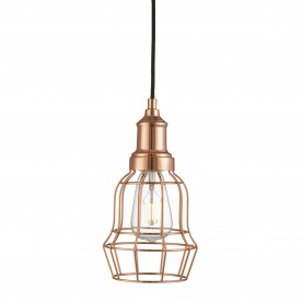 BELL CAGE 1LT COPPER CAGE PENDANT