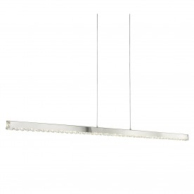 CLOVER - LED STRAIGHT BAR CHROME CLEAR CRYSTAL GLASS