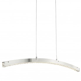 CLOVER - LED CURVED BAR CHROME CLEAR CRYSTAL GLASS