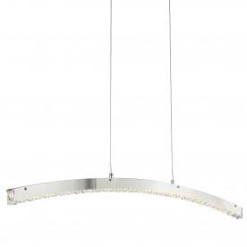 CLOVER - LED CURVED BAR CHROME CLEAR CRYSTAL GLASS