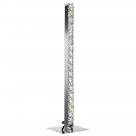 CLOVER - LED TABLE LAMP CHROME CLEAR CRYSTAL GLASS