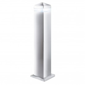 INDIA LED OUTDOOR POST - 45cm SATIN SILVER SQUARE - 16 LEDS