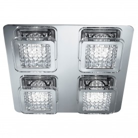 VESTA  - 4LT LED CEILING FLUSH CHROME CLEAR GLASS BEADS
