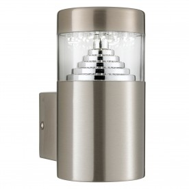 BROOKLYN LED OUTDOOR WALL LIGHT - STAINLESS STEEL SQ BACKPLATE
