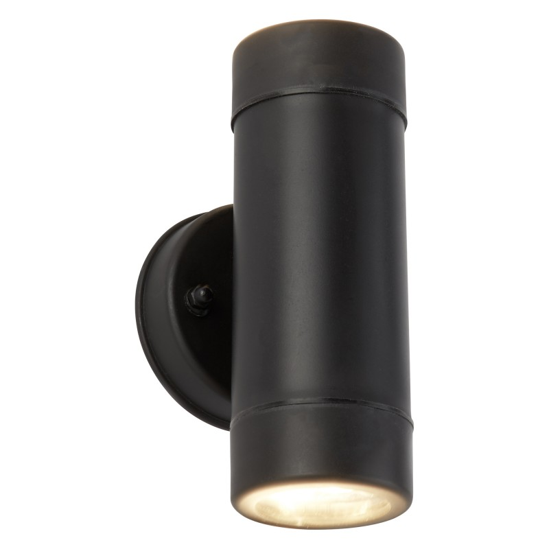 LED OUTDOOR 2LT CYLINDER PP WALL BRACKET BLACK