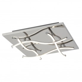 MODERN 4LT LED CEILING SQUARE FLUSH CHROME