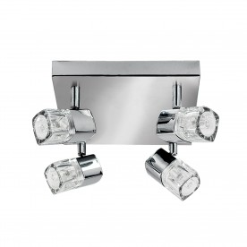 BLOCS - 4LT SPOTLIGHT SQUARE CHROME CLEAR GLASS (ICE CUBE)