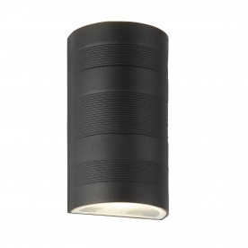 LED OUTDOOR UP/DOWN - CURVED WALL BRACKET BLACK