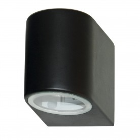 LED OUTDOOR & PORCH (GU10 LED) IP44 WALL LIGHT 1LT BLACK