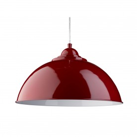 FUSION - PENDANT HALF DOME RED