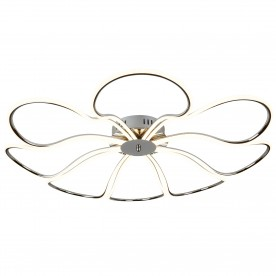 FOLIAGE 8LT LED LARGE PETAL CEILING FLUSH CHROME
