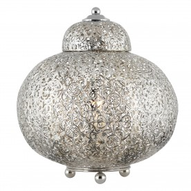 FRETWORK - TABLE LAMP SHINY NICKEL