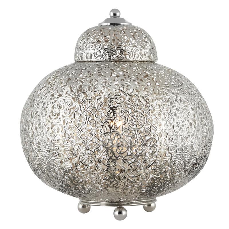 FRETWORK - TABLE LAMP SHINY NICKEL