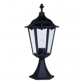 ALEX OUTDOOR POST LAMP - SMALL 1LT BLACK  Ht55