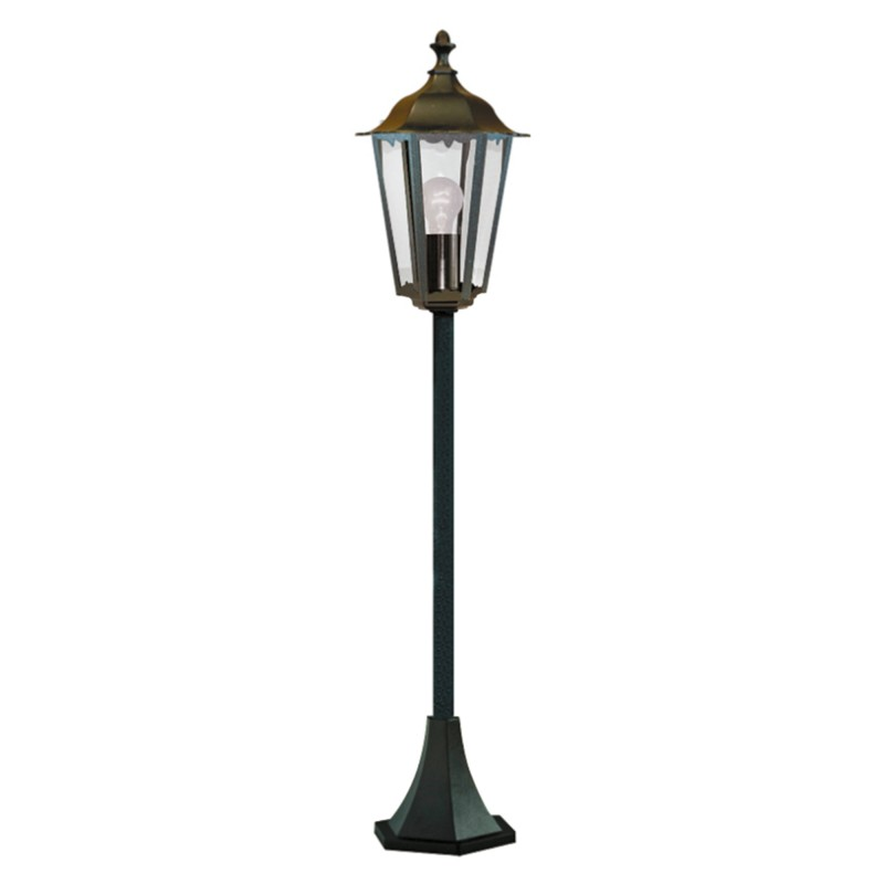 ALEX OUTDOOR POST LAMP - 1LT BLACK Ht105